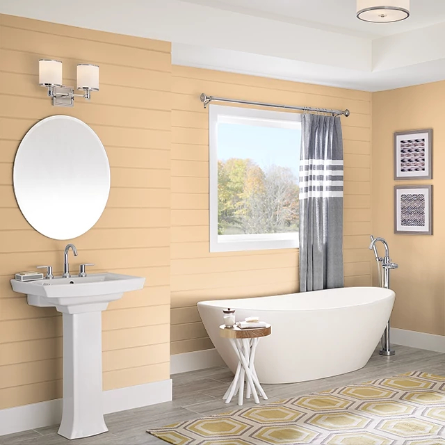 Bathroom painted in CITRUS SPICE
