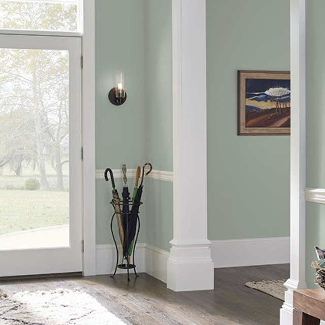 Foyer painted in STATUE GREEN