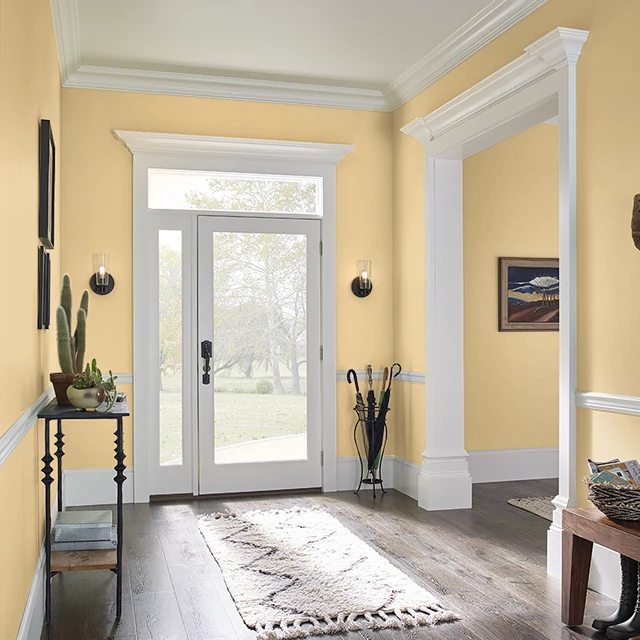 Foyer painted in PINEAPPLE CITRUS
