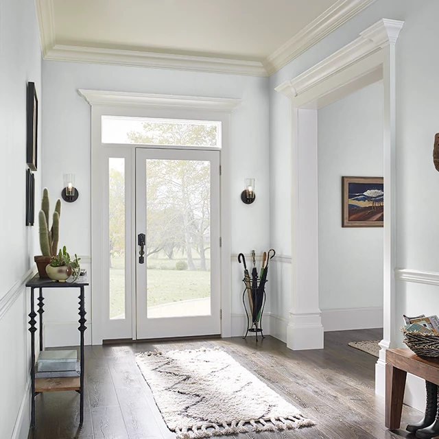 Foyer painted in WHITE BARN