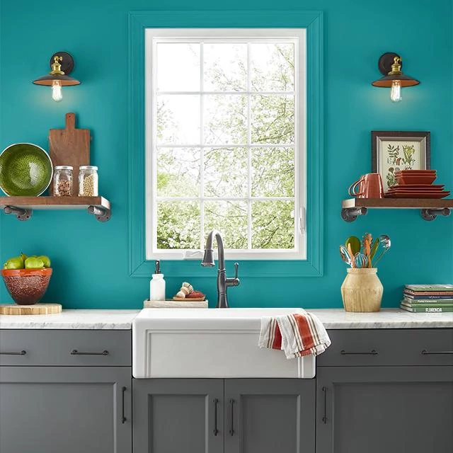 Kitchen painted in GLAMOUR DAZE
