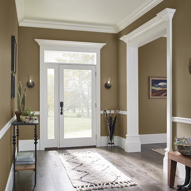 Foyer painted in EARTHY OCHRE