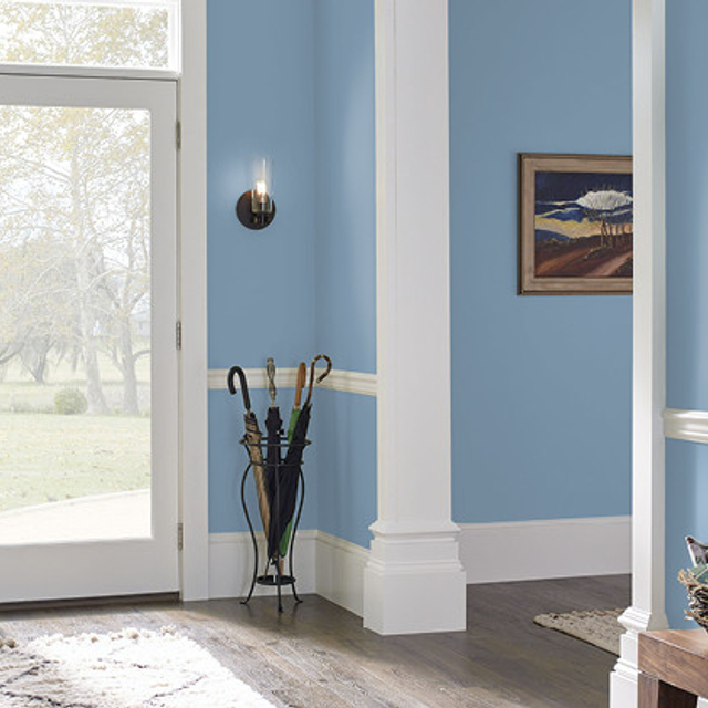 Foyer painted in HIGH TIDE