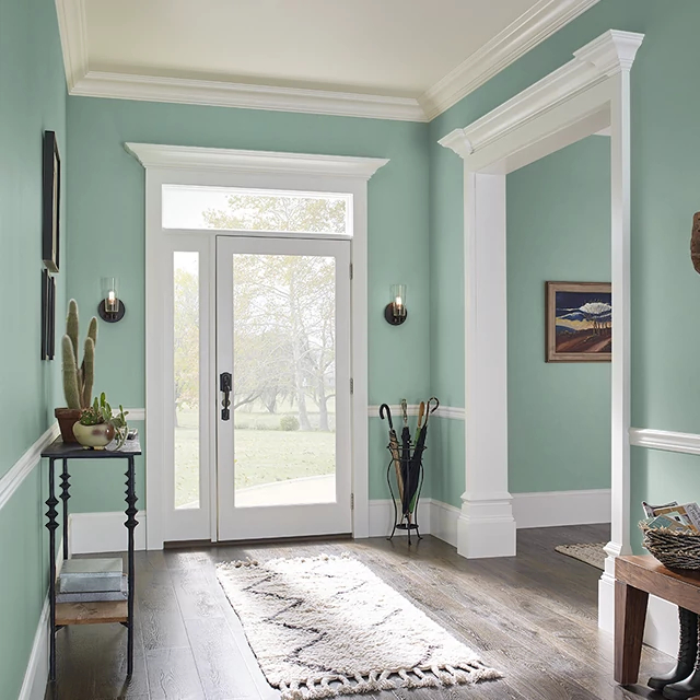 Foyer painted in WINCHESTER GREEN
