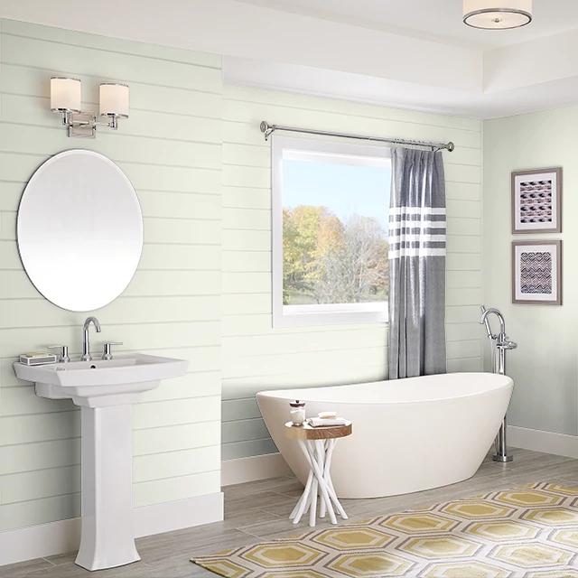 Bathroom painted in SPRING BREEZE