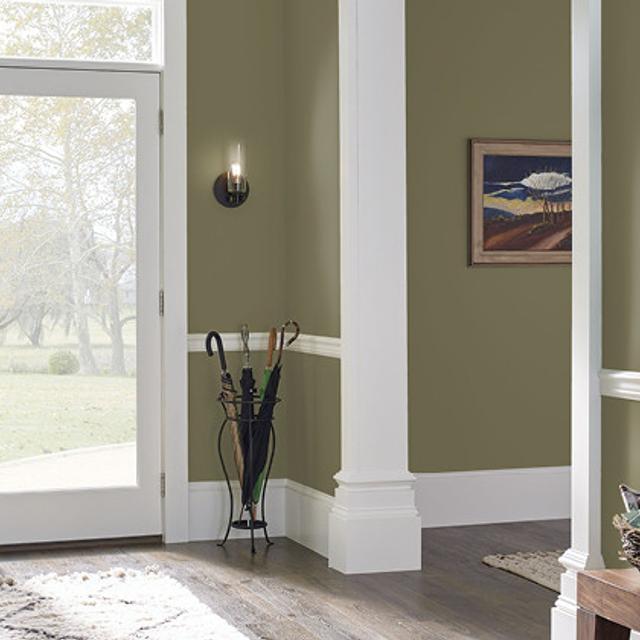 Foyer painted in GRAPE ARBOR