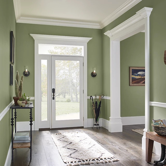 Foyer painted in CAVERN MOSS