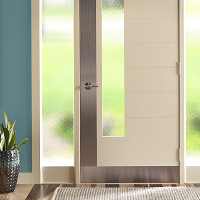 Entryway painted in PALE EMERALD