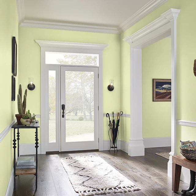 Foyer painted in MINI GREEN