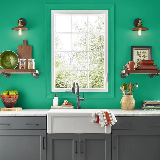 Kitchen painted in BEJEWELLED