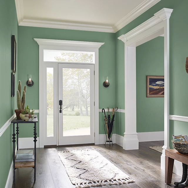 Foyer painted in BITTER ARUGULA