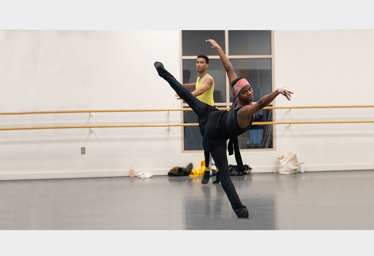Daniel Durrett rehearsing Agon for rEVOLUTION. Photo by Brooke Trisolini.