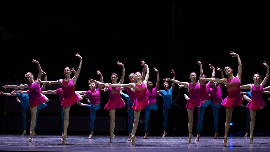 Boston Ballet dancers on stage in William Forsythe's Playlist (EP) by Angela Sterling