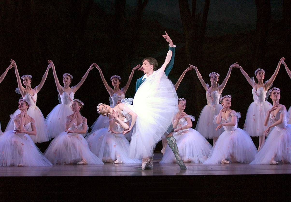 Larissa Ponomarenko and Roman Rykine in August Bournoneville's La Sylphide. Photo by Angela Sterling