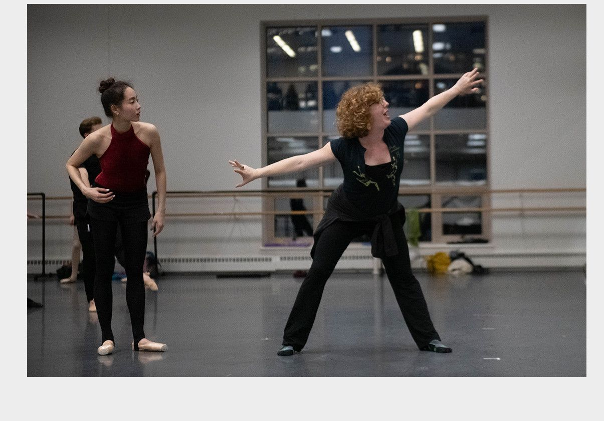 Helen Pickett and Seo Hye Han in studio rehearsals by Brooke Trisolini