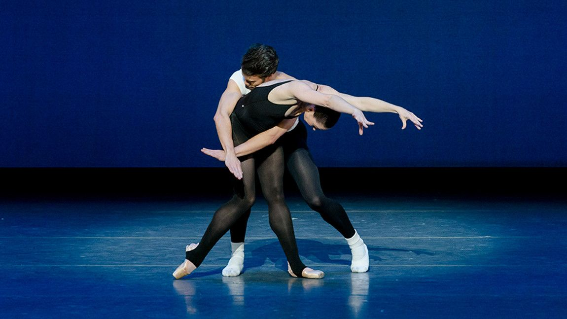 Paul Arrais & Kathleen Breen Combes in George Balanchine's Stravinsky Violin Concerto © The George Balanchine Trust Photo by: Liza Voll