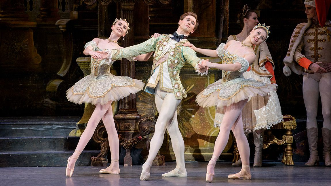 Addie Tapp, Patrick Yocum, and Luaren Herfindahl in The Sleeping Beauty