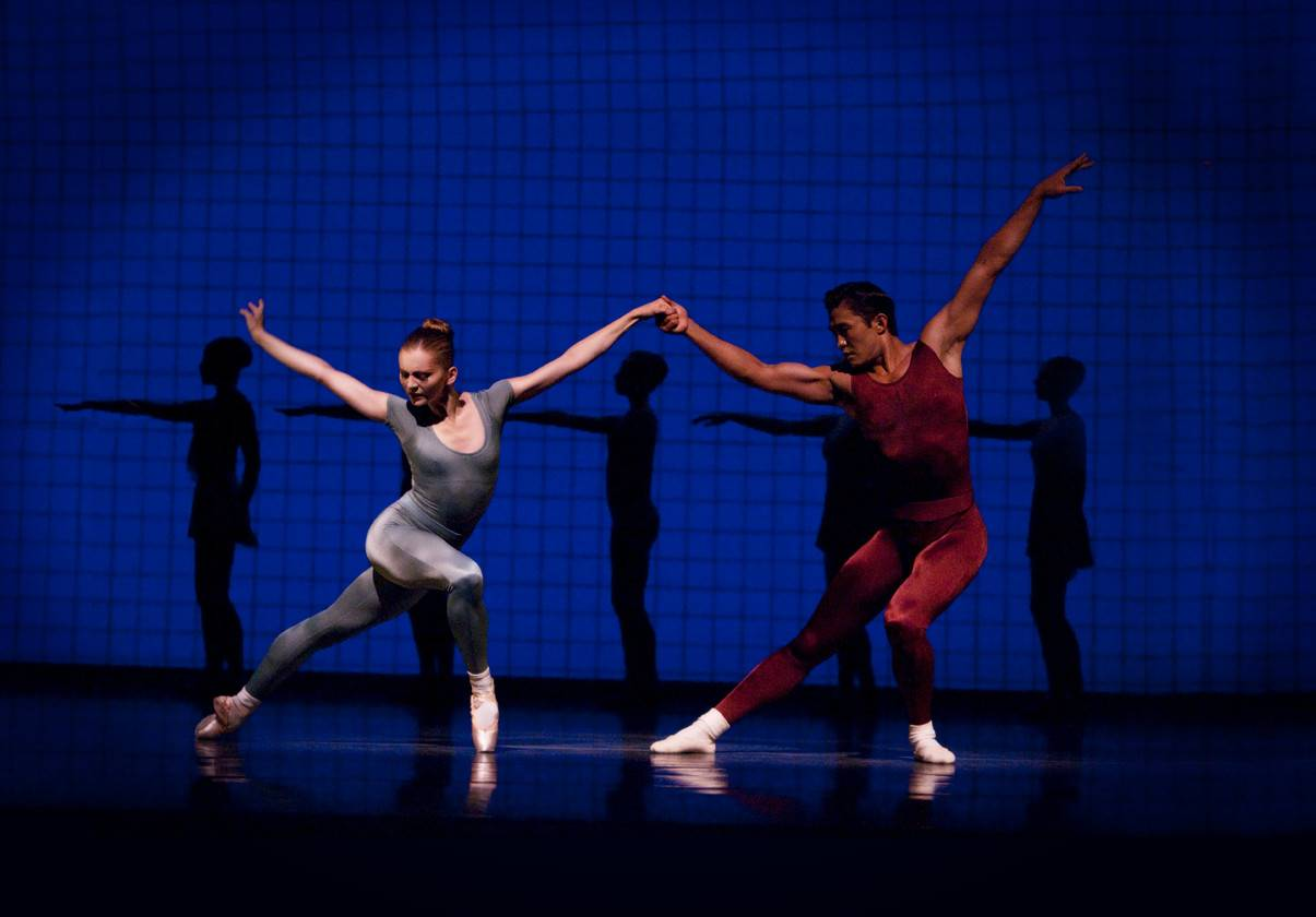 Pacific Northwest Ballet, Carla Körbes and Batkhurel Bold in Jerome Robbins' Glass Pieces by Angela Sterling