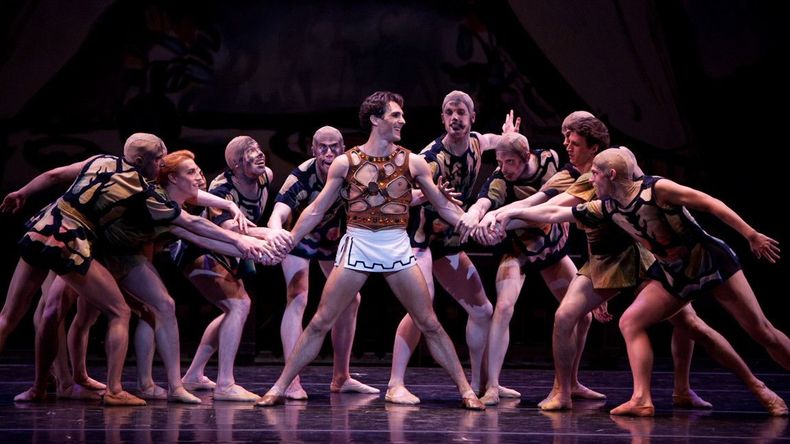 Boston Ballet in George Balanchine's The Prodigal Son © the George Balanchine Trust. Photo by Rosalie O'Connor