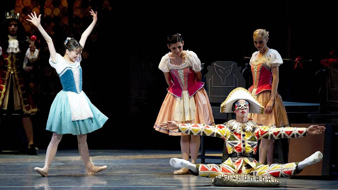 Misa Kuranaga in George Balanchine's Coppelia. Photo by Gene Schiavone