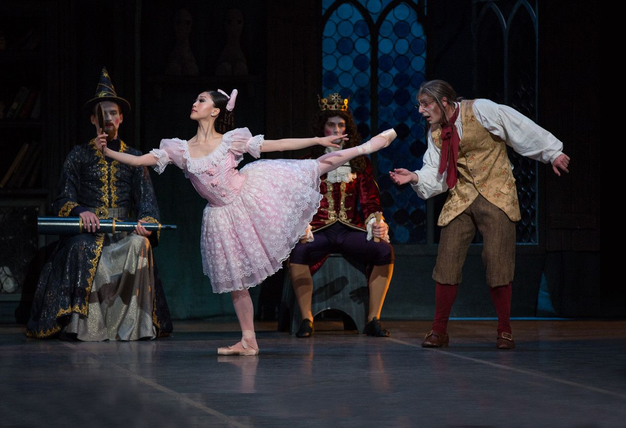 Misa Kuranaga as the doll Coppelia come to life and Boyko Dossev as Dr. Coppelius.