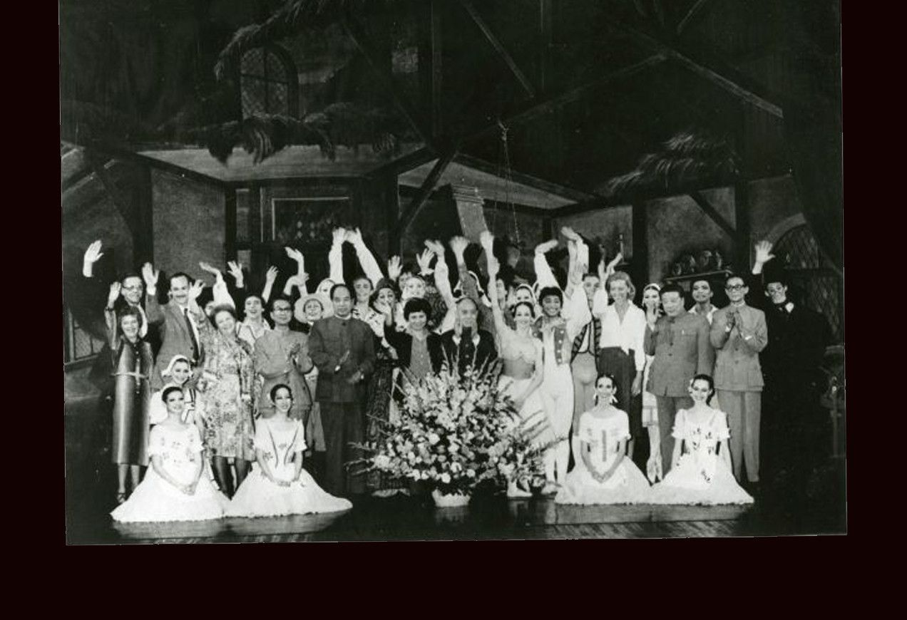 Curtain call following a performance in China