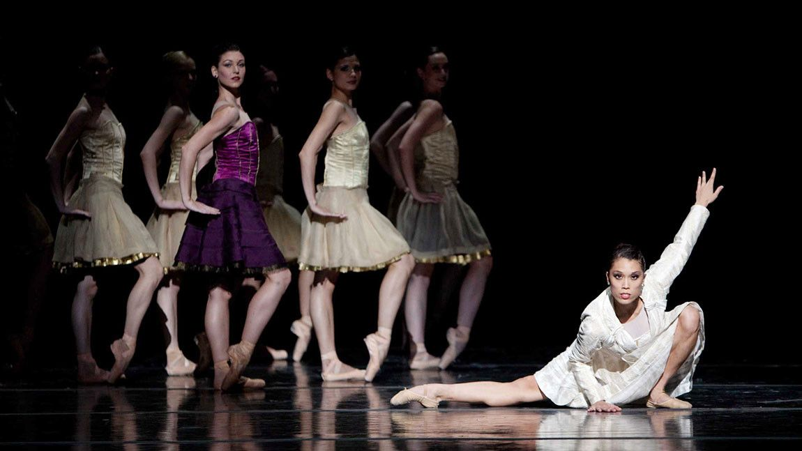 Dancers of Boston Ballet on stage in Jorma Elo's Carmen/Illusions photographed by Rosalie O'Connor.