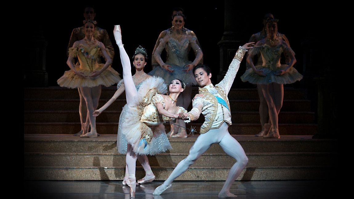 Misa Kuranaga and Jeffrey Cirio in Sir Frederick Ashton's Cinderella. Photo by GEne Schiavone