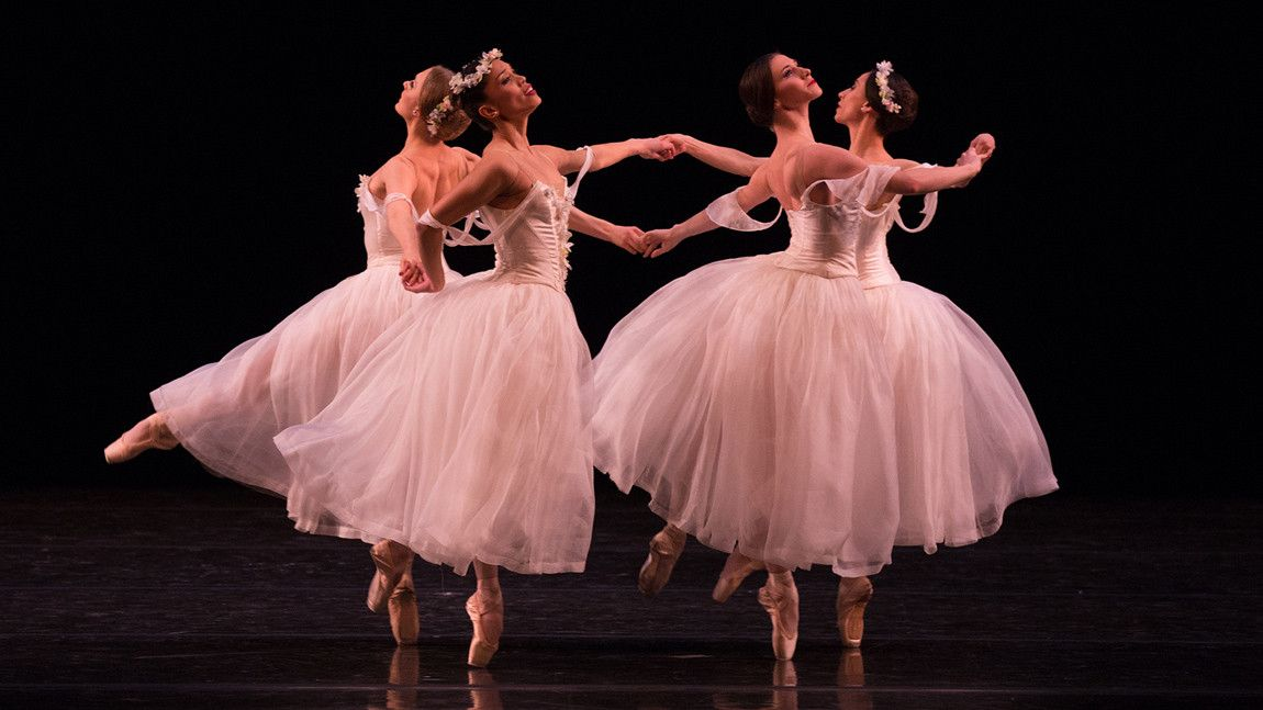 Ashley Ellis, Lia Cirio, Maria Baranova, Erica Cornejo in Leonid Yakobson's Pas de Quatre. Photo by Rosalie O'Connor