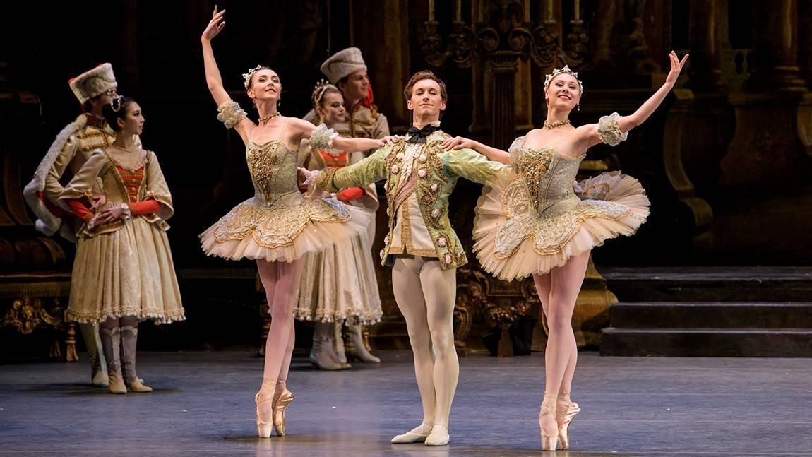 Addie Tapp, Patrick Yocum, and Luaren Herfindahl in The Sleeping Beauty