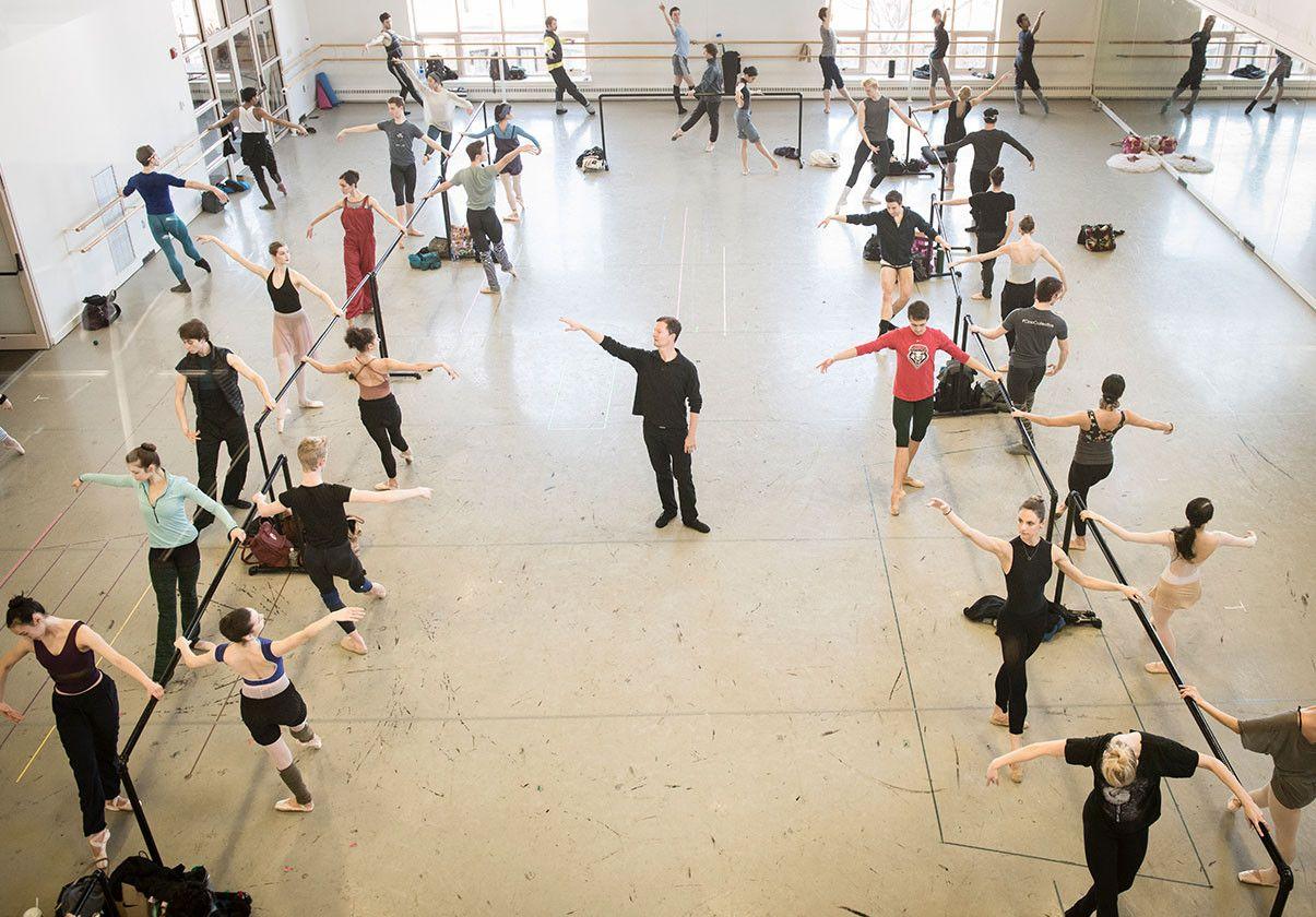 Boston Ballet in Company Class by Liza Voll