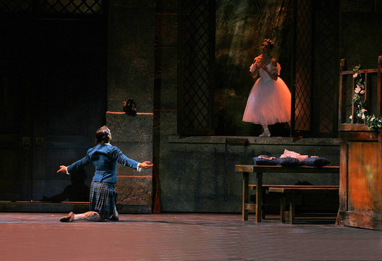 Karine Seneca and Yury Yanowsky in August Bournenville's La Sylphide. Photo by Angela Sterling