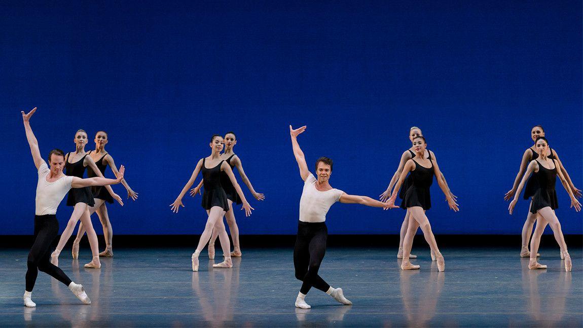 Boston Ballet in George Balanchine's Stravinsky Violin Concerto © The George Balanchine Trust Photo by: Liza Voll