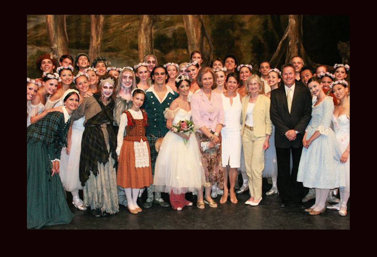 Boston Ballet with her royal highness Queen Sophia of Spain, post performance of La Sylphide.