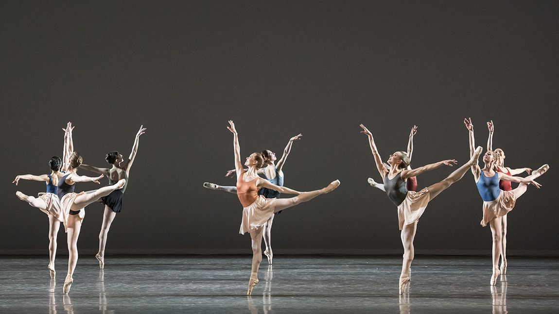 Boston Ballet in Glass Pieces, choreography by Jerome Robbins, photo by Liza Voll