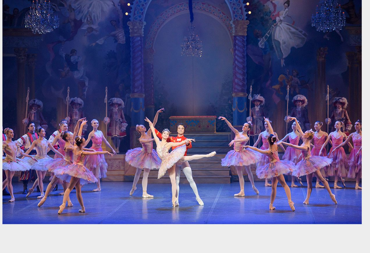Act III opening of Boston Ballet's The Nutcracker by Liza Voll