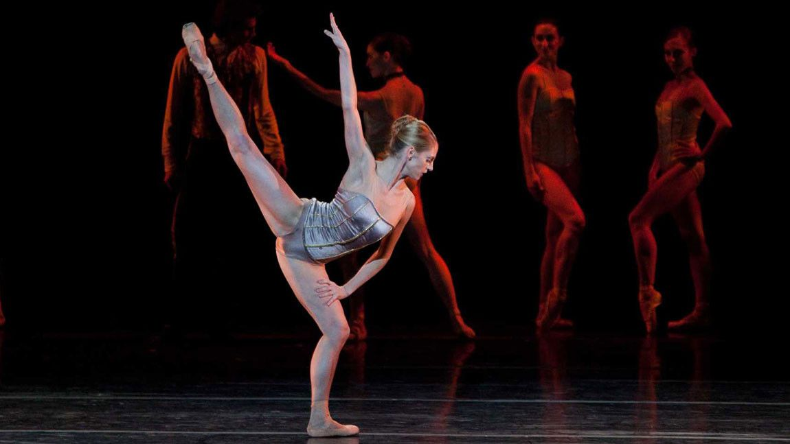 Dancer Melissa Hough on stage in Jorma Elo's Carmen/Illusions photographed by Rosalie O'Connor.