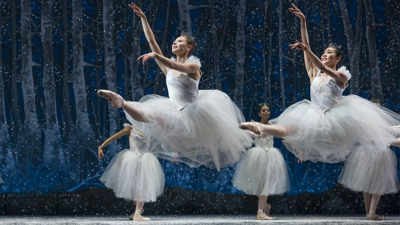 Nutcracker Snow Scene by Liza Voll