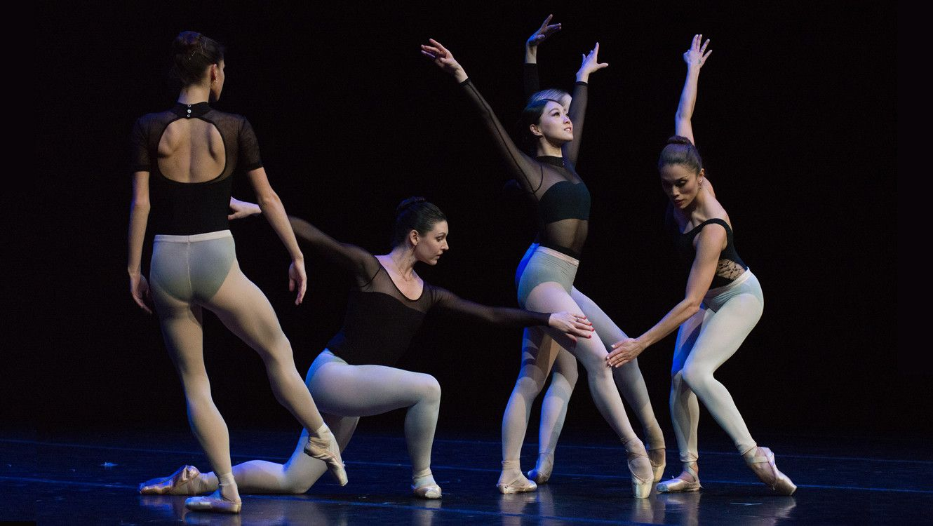 Boston Ballet dancers including Kathleen Breen Combes, Lia Cirio, and Misa Kuranaga.  Photo by Brooke Trisolini