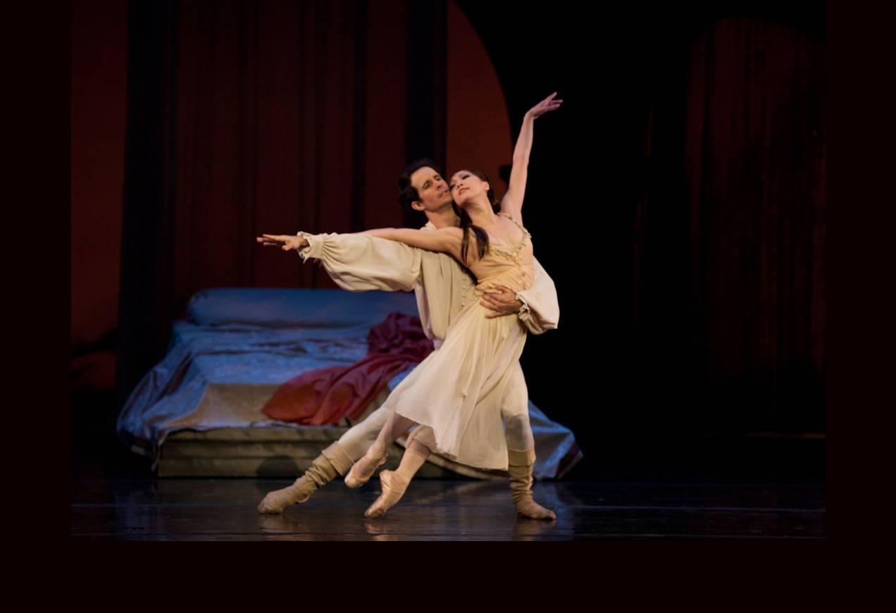 Nelson Madrigal and Misa Kuranaga in John Cranko's Romeo & Juliet. Photo by Rosalie O'Connor