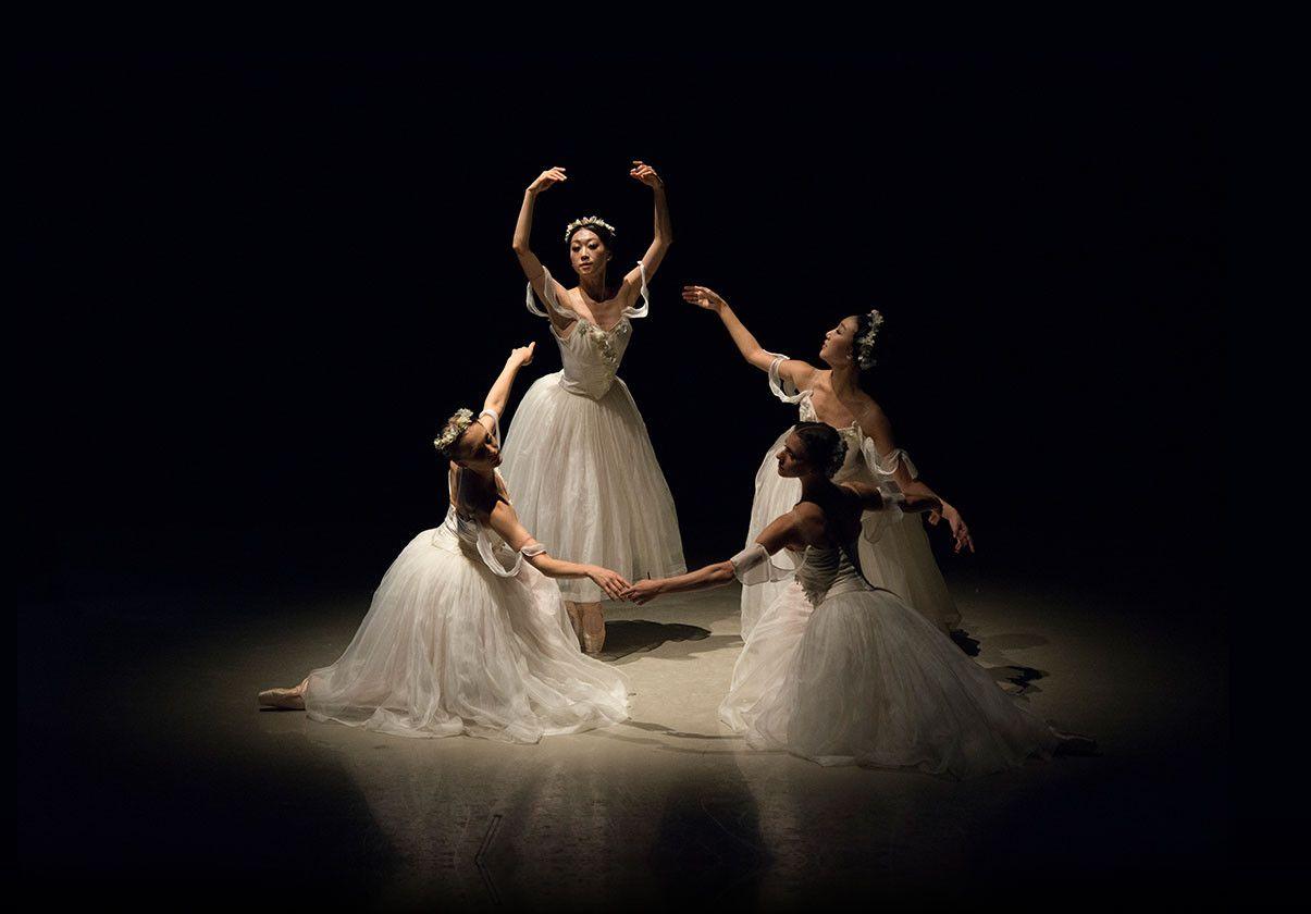 Boston Ballet dancers Misa Kuranaga, Ji Young Chae, Maria Baranova, and Ashley Eliis in Yakobson's Pas de Quatre by Igor Burlak Photography