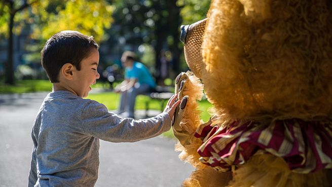 Celebrate the holidays with Boston Ballet's Nutcracker Bear. Our huggable mascot is hard at work spreading holiday cheer throughout the city.