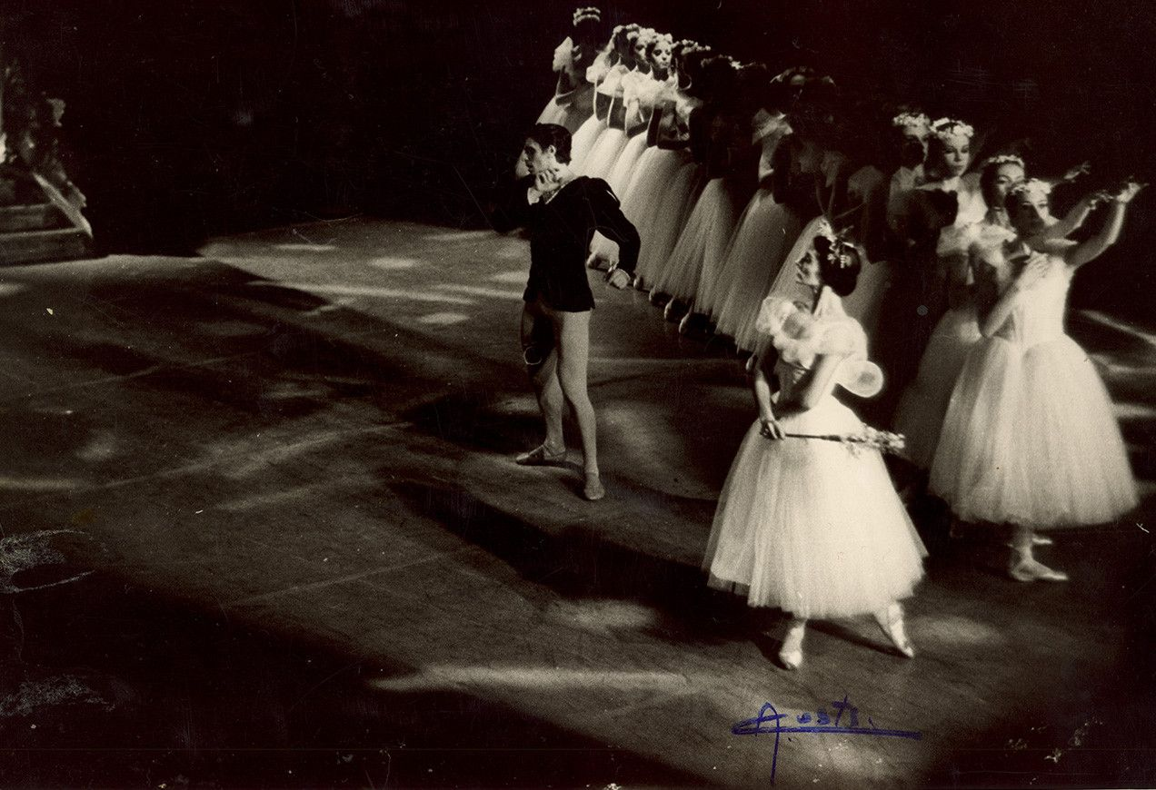 Edward Villella (Albrecht) and Anamarie Sarazin (Myrtha) in Boston Ballet's first production of Giselle, circa 1969. Photo credit: Alex Costa