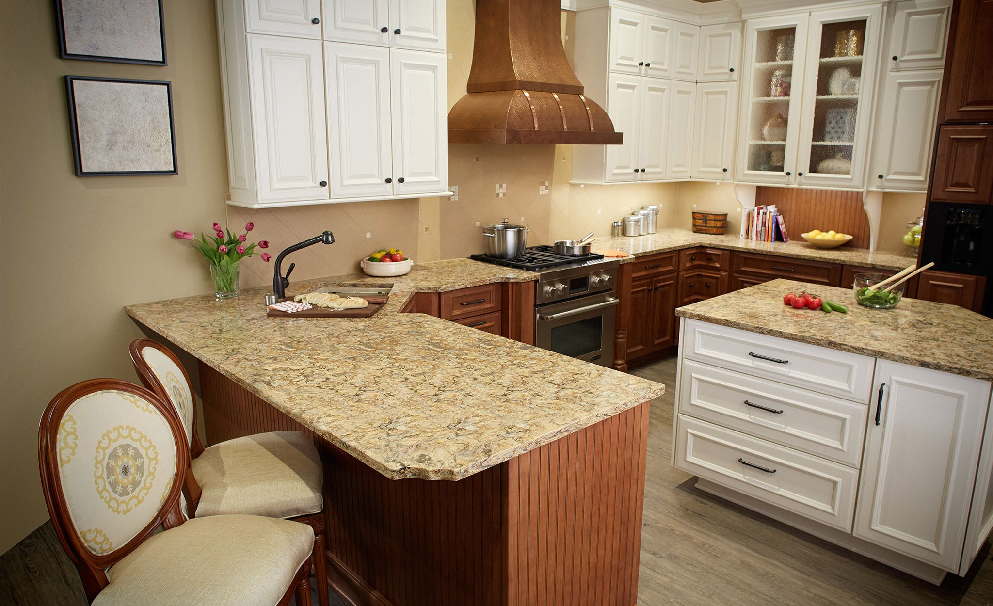 An alternative to gray and gold granite countertops, Buckingham is a rich and versatile granite alternative.