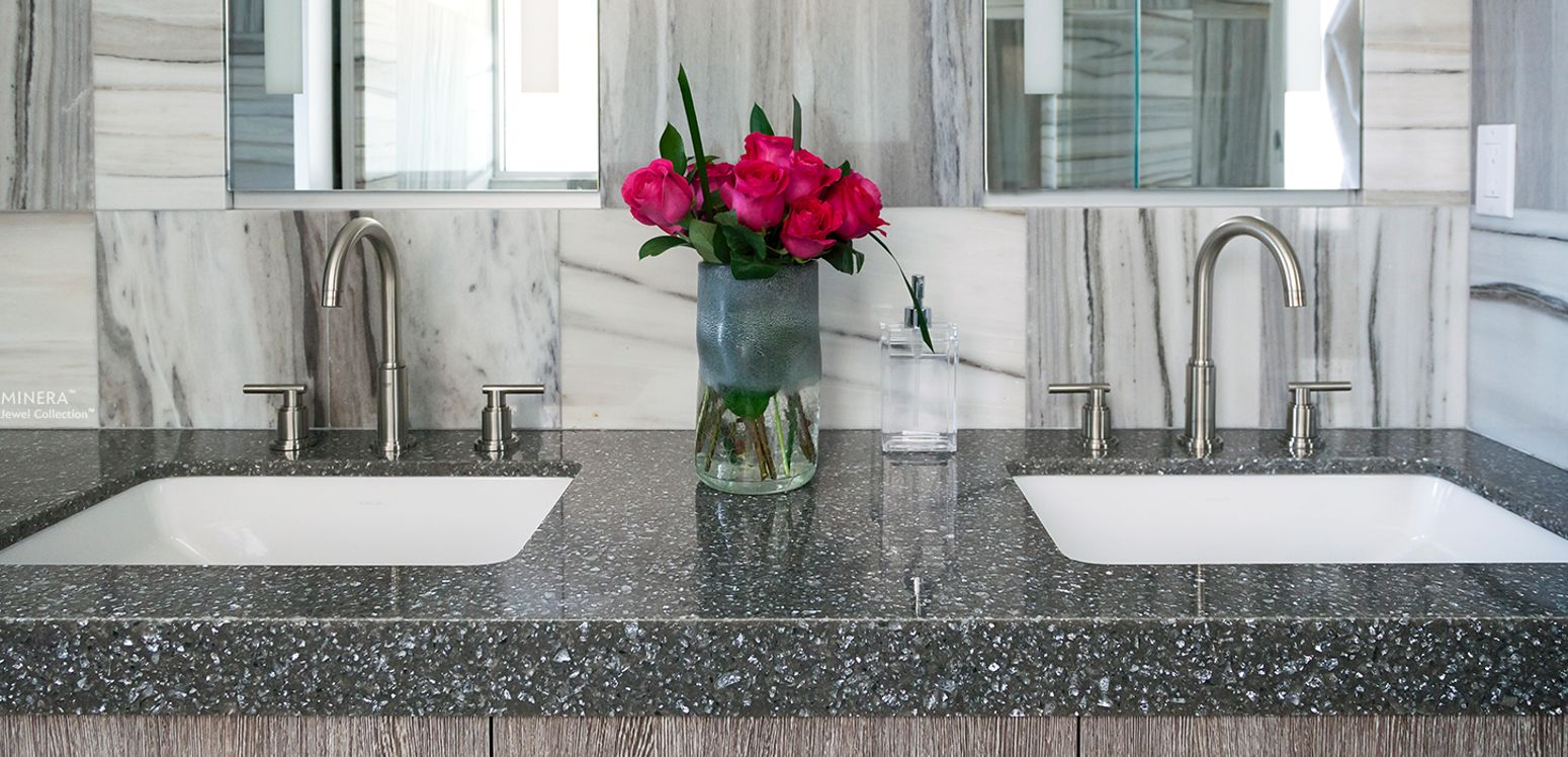 Cambria-Minera-Quartz-Countertop-Bathroom-Dual-sinks