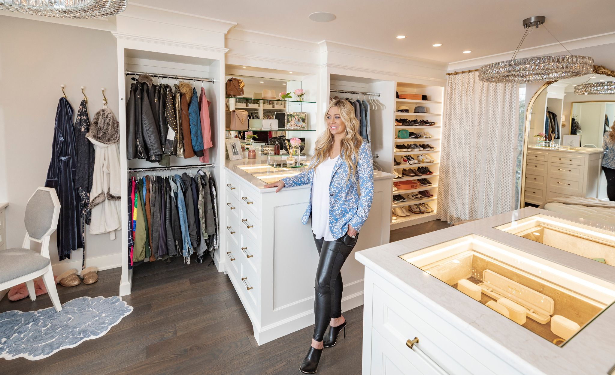 Carly Zucker in her completed closet renovation.