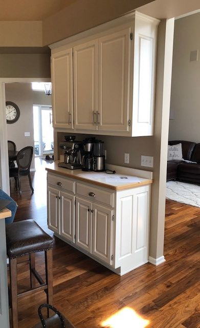 Kitchen remodel before image.
