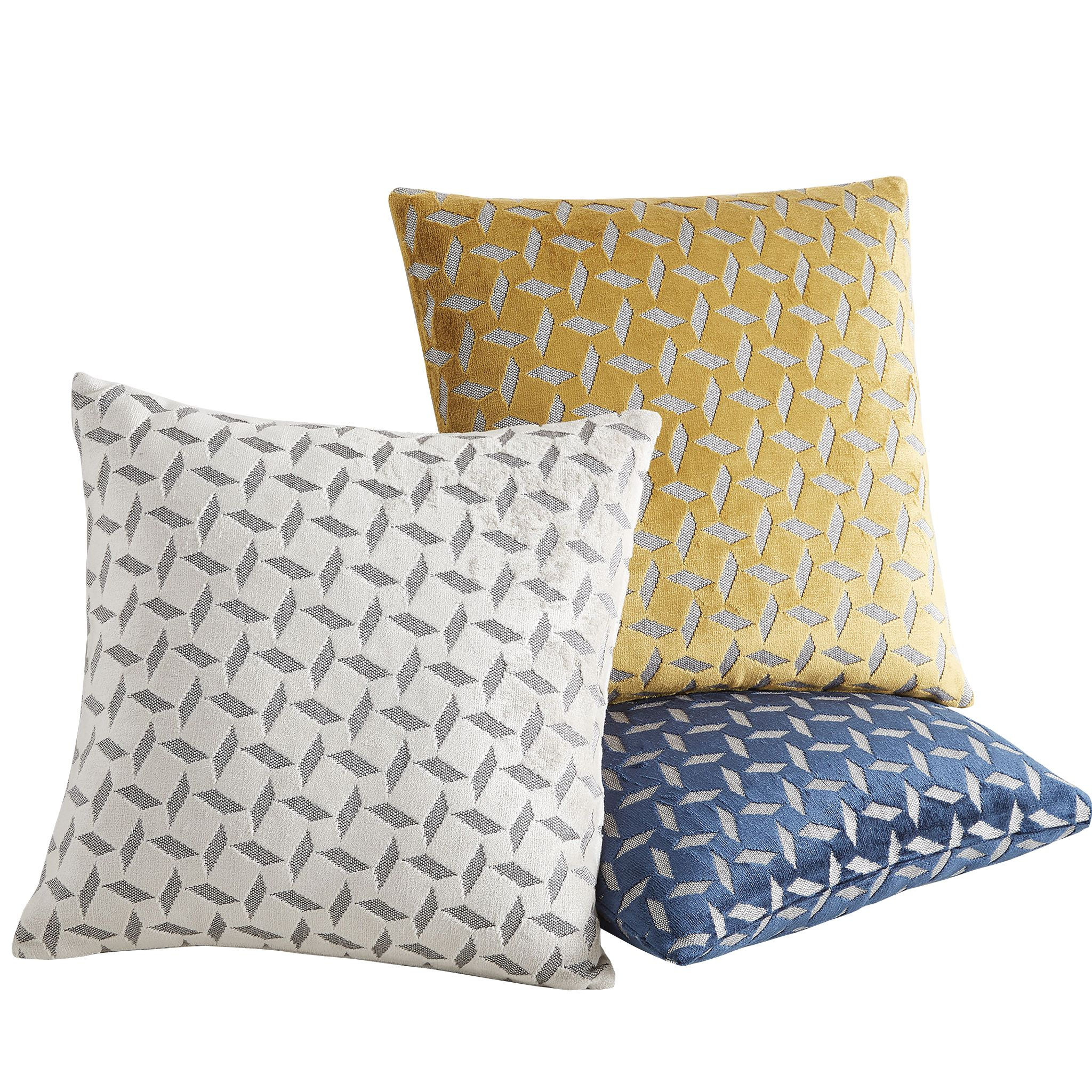 Pinwheel jacquard velvet pillow covers by West Elm