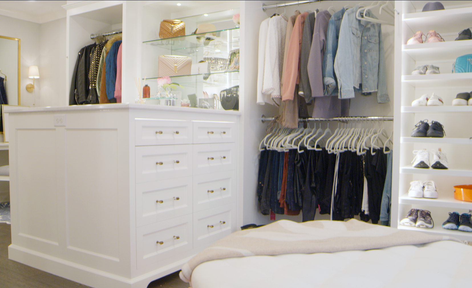 A view of Carly Zucker's organized closet.