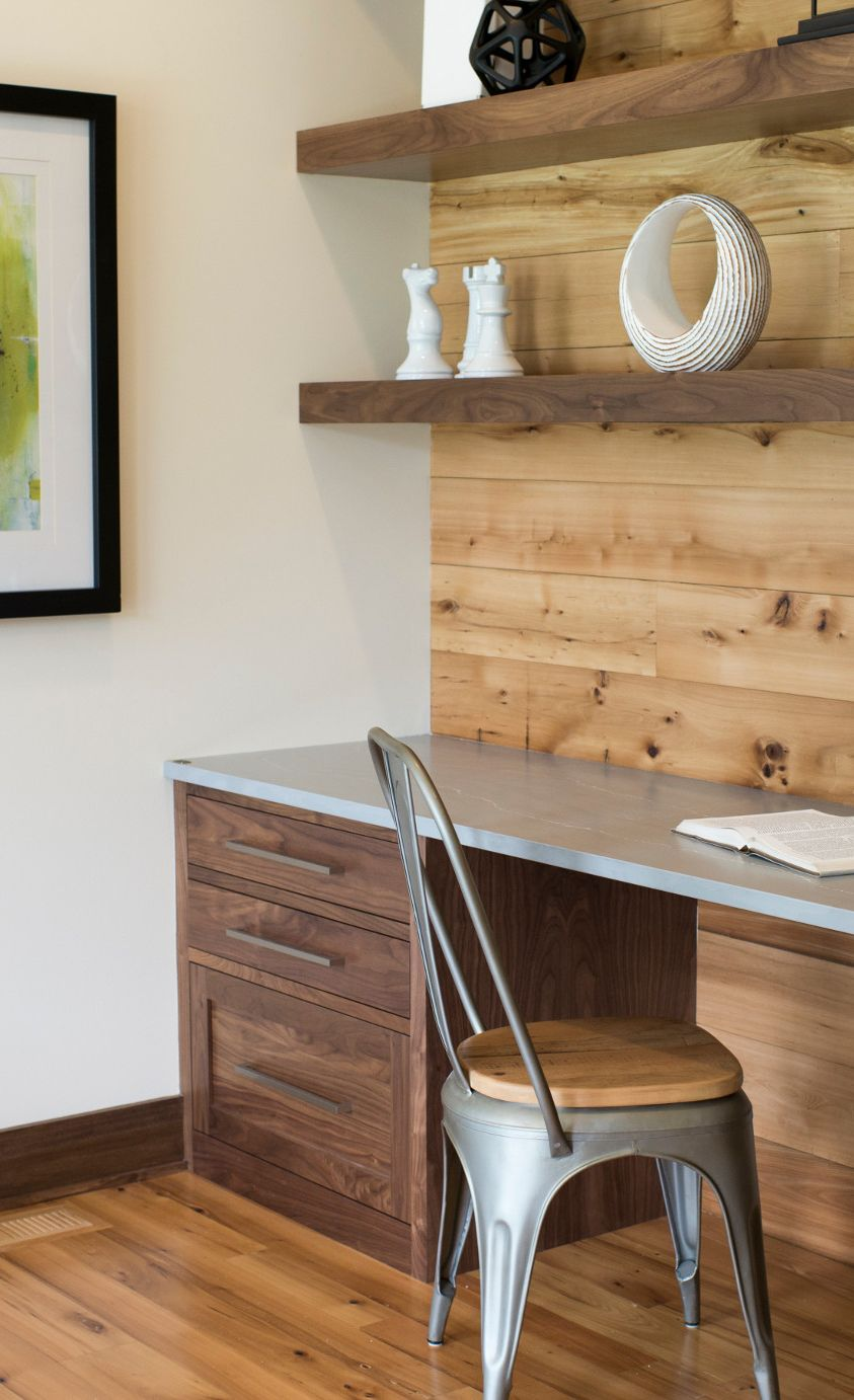 Create a rustic-chic workspace with Clareanne Matte.